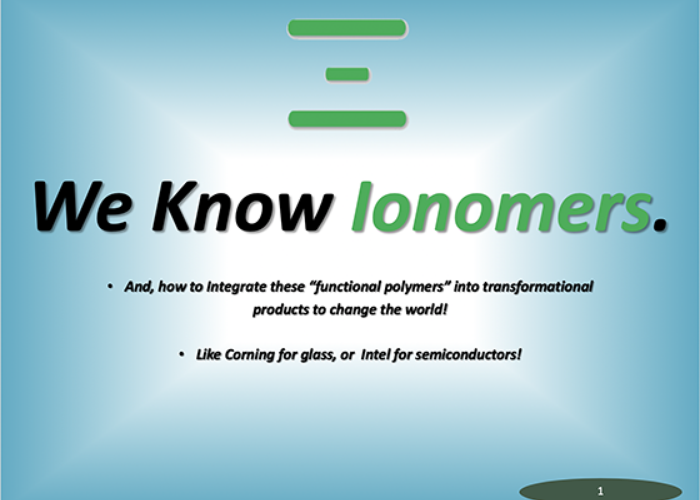 WE KNOW IONOMERS